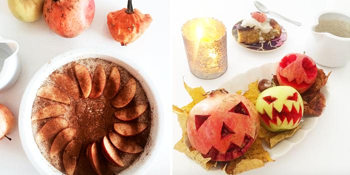 LCHF Äppelkaka med vaniljsås till Halloween