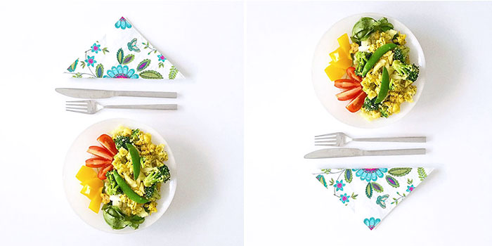LCHF lunch med grönsaker, ägg och räkor på 5 minuter