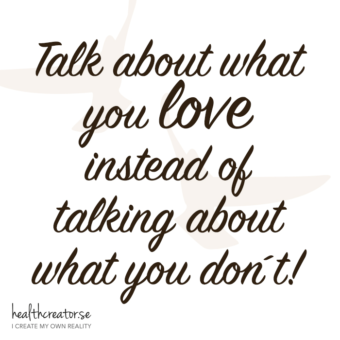 Talk about what you love