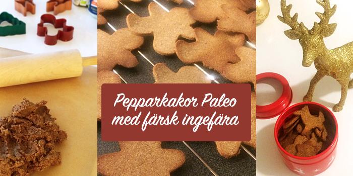 Pepparkakor med färsk ingefära - Paleo, LCHF och glutenfritt