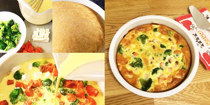 Lax-fetaost och broccolipaj - LCHF