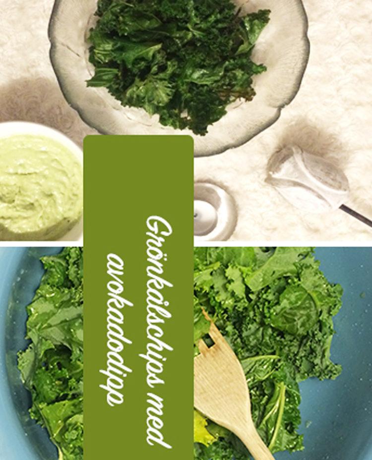grönkalschips avokadodipp