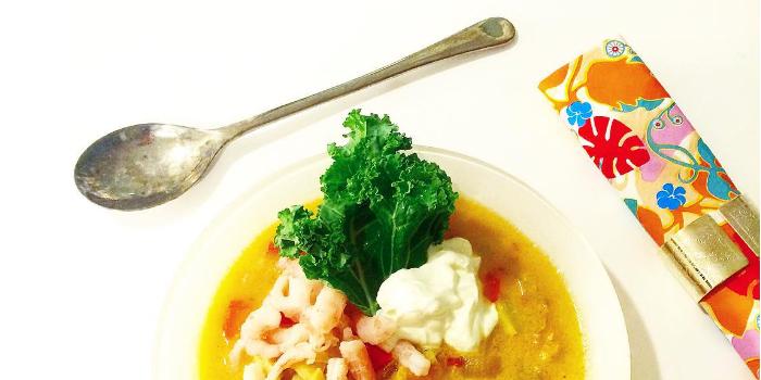 Thaisoppa - vit fisk och kokosmjölk - Paleo