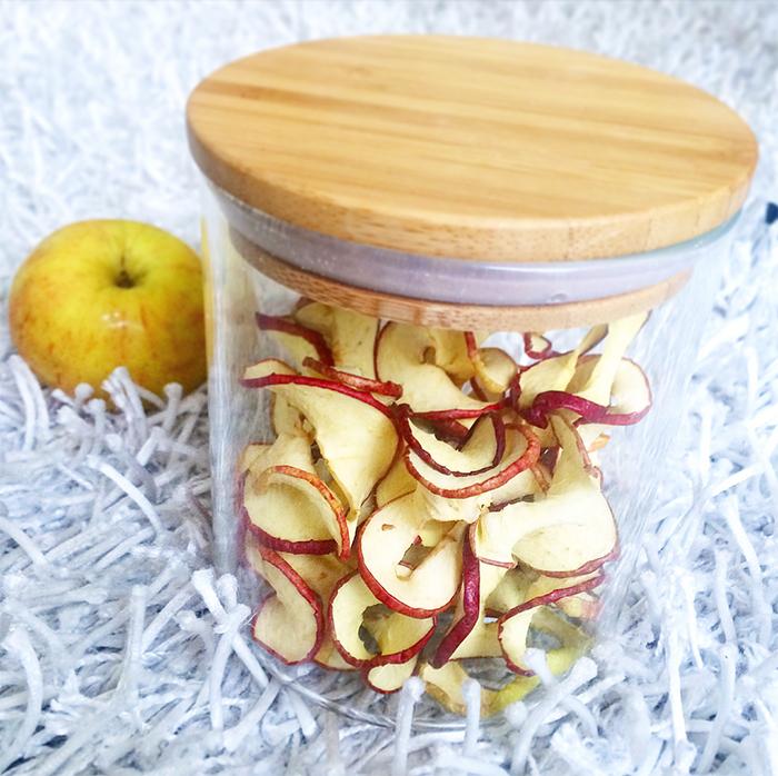 Äppelchips lufttorkade äpplen 4