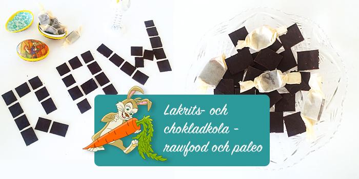 Lakrits- och chokladkola - rawfood och paleo
