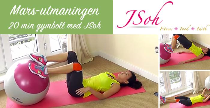 Mars utmaningen 20 minuter gymboll med Jsoh. Healthcreator