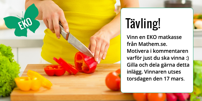 Tävling på Facebook - vinn en ekologisk matkasse från Mathem.se