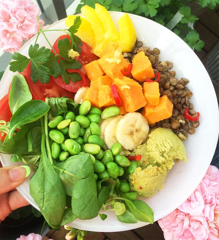 my crazy vegan salad - glutenfri och laktosfri