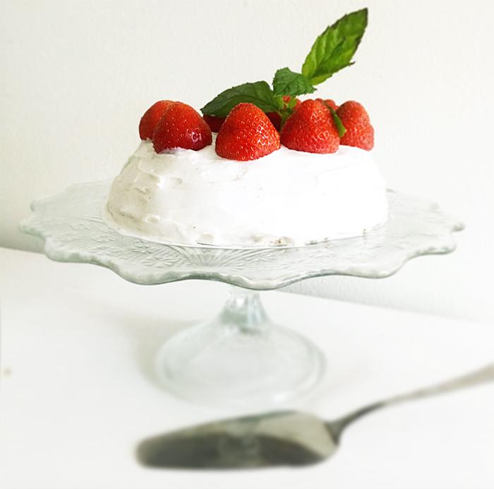 jordgubbstårta vegan eatclean glutenfri