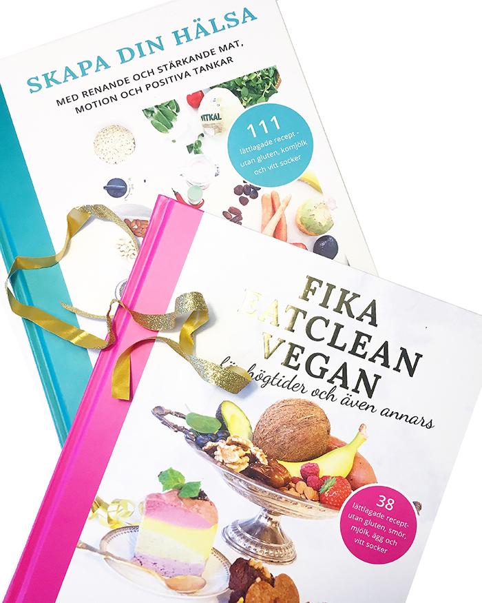 REA på kokboken Skapa din hälsa och kakboken Fika eatclean vegan