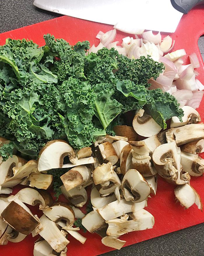 risotto skogschampinjoner grönkål vegan
