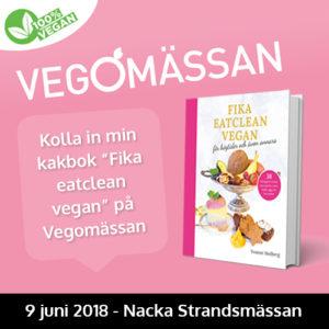 fika eatclean vegan healthcreator vegomässan 2018