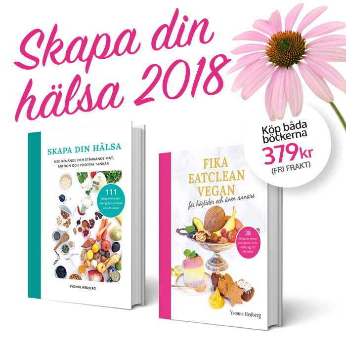 Rea på min kokbok Skapa din hälsa och kakbok Fika eatclean vegan av Yvonne Hedberg