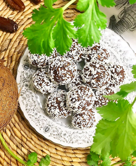 Chokladbollar glutenfria eatclean vegan.