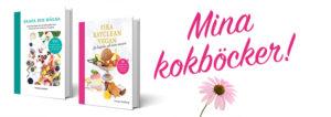 Bild på kokböckerna Skapa din hälsa och Fika eatclean vegan.