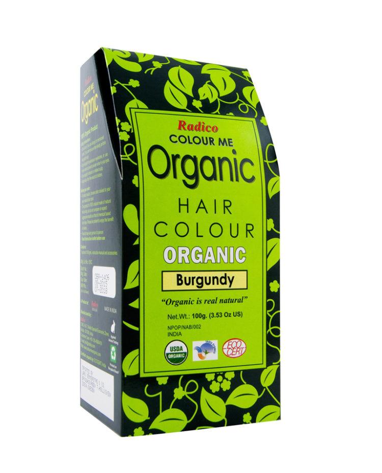 En förpackning med radico ekologisk hårfärg.