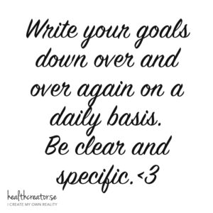 write your goals down law of attraction