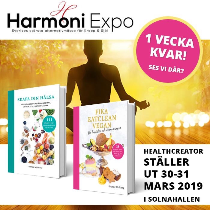 Healthcreator stäler ut på harmoni expo mässan 30-31 mars 2019