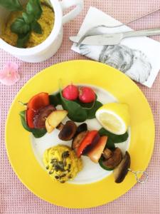 Foto på grillade grönsaker.
