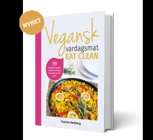 Bild på kokboken vegansk vardagsmat eatclean yvonne hedberg
