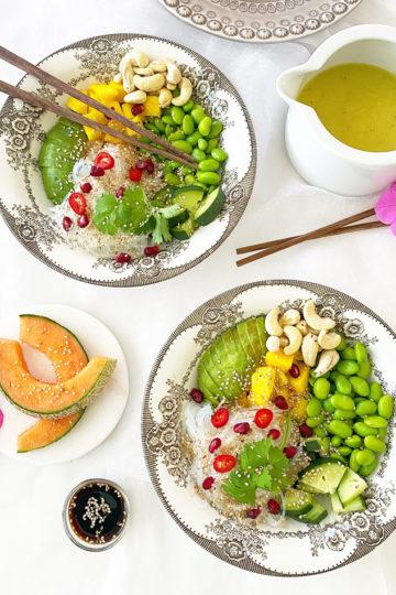 2 veggie bowls.