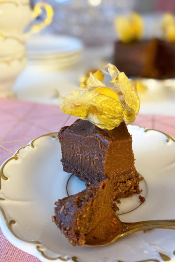 choklad och pepparkakstårta cheesecake aw vegan