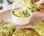 Zucchiniplättar med avokadotzatziki – vegan
